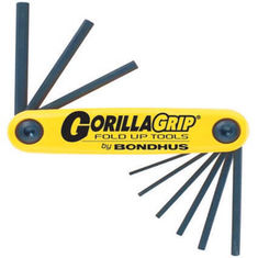 5/64-1/4 inch GorillaGrip egyenesvégű összecsukható imbuszkulcs készlet HF9 - Bondhus - 12589