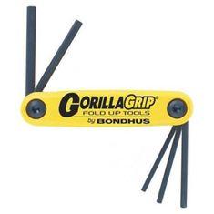 3/16-3/8 inch GorillaGrip egyenesvégű összecsukható imbuszkulcs készlet HF5 - Bondhus - 12585