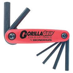 3-10 mm GorillaGrip egyenesvégű összecsukható imbuszkulcs készlet HF6M - Bondhus - 12595