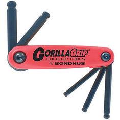 5-10 mm GorillaGrip gömbvégű összecsukható imbuszkulcs készlet BF5M - Bondhus - 12897