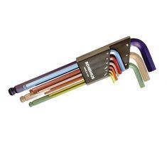 1,5-10 mm L-imbuszkulcs készlet színes hosszú gömbvégű BLX9MCG - Bondhus - 69499