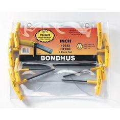 3/32-1/4 inch T-imbuszkulcs készlet egyenesvégű HTX80 - Bondhus - 13332