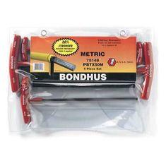4-10 mm T-imbuszkulcs ProHold gömbvégű készlet PBTX50M - Bondhus - 75148