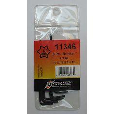 T6-T15 Torx L-kulcs készlet hosszú gömbvégű LTX6 - Bondhus - 11346