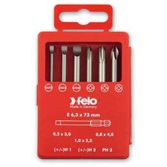 Lapos-PH-H+/- Profi Bit Box készlet E 6,3x73mm - Felo - 03292716