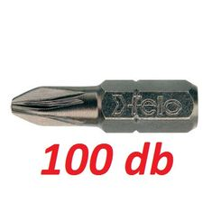 PZ2x25 mm PZ bit / Pozidriv bithegy C 6,3 1/4'' (100db) - Felo - 02102017