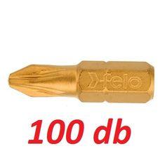 PZ2x25 mm PZ bit / Pozidriv bithegy TiN bevonattal C 6,3 1/4'' (100db) - Felo - 02102077