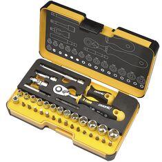 1/4 R-Go XL Ergonic racsnis dugókulcs adapter és bit szerszámkészlet (36 részes) - Felo - 05783616