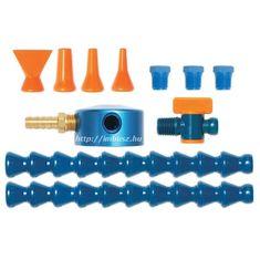 """1/4"""" mágnestalpas hűtőfolyadék / levegő lefúvató elosztó készlet (11 részes) - Loc-Line - 40463"""