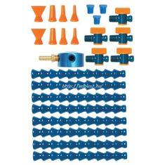 """1/4"""" mágnestalpas hűtőfolyadék / levegő lefúvató szabályozó és elosztó szuper készlet (25 részes) - Loc-Line - 40480"""