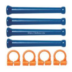 """1/4"""" 4x90 mm hosszúszegmens cső és rögzítő gyűrű készlet - 8 részes - Loc-Line - 41475"""