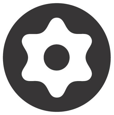 Torx biztonsági profil