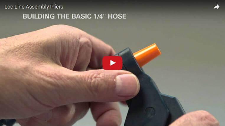 Hogyan kell használni a Loc-Line modulos csőrendszer szerelőfogót?